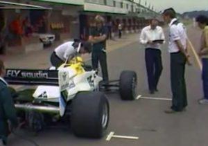 Senna Williams Test Donington 1983