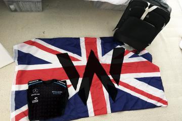 Williams flag and tshirt