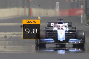 George Russell Drain Baku - Williams F1