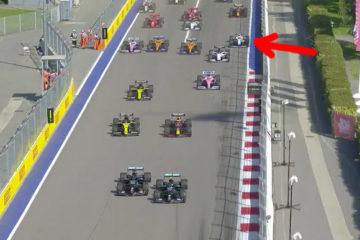 George Russel Start of Russian Grand Prix