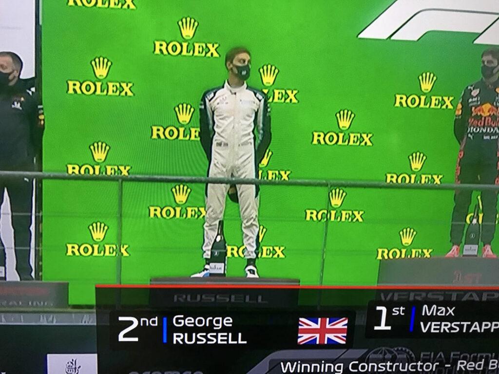 George Russell Belgian Grand Prix Podium